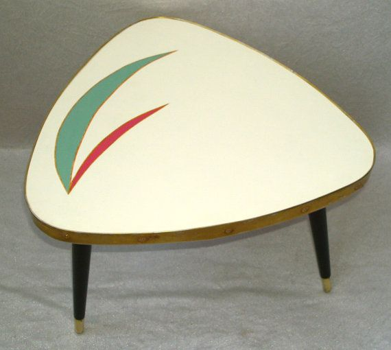 Vintage Triangle Tripod Low Mini COFFEE TABLE By