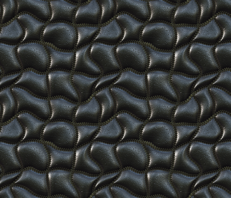 Wave-quilted leather fabric by bonnie_phantasm on Spoonflower ... : black quilted leather - Adamdwight.com