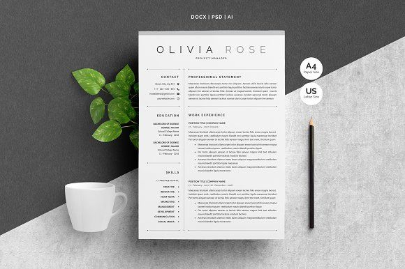 3 pages word resume template  creativework247
