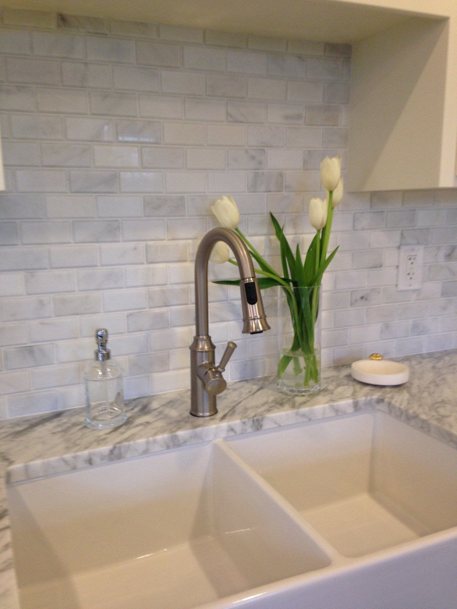 Beveled Brick 2x4 Subway Tile Mosaic Carrara Marble Honed