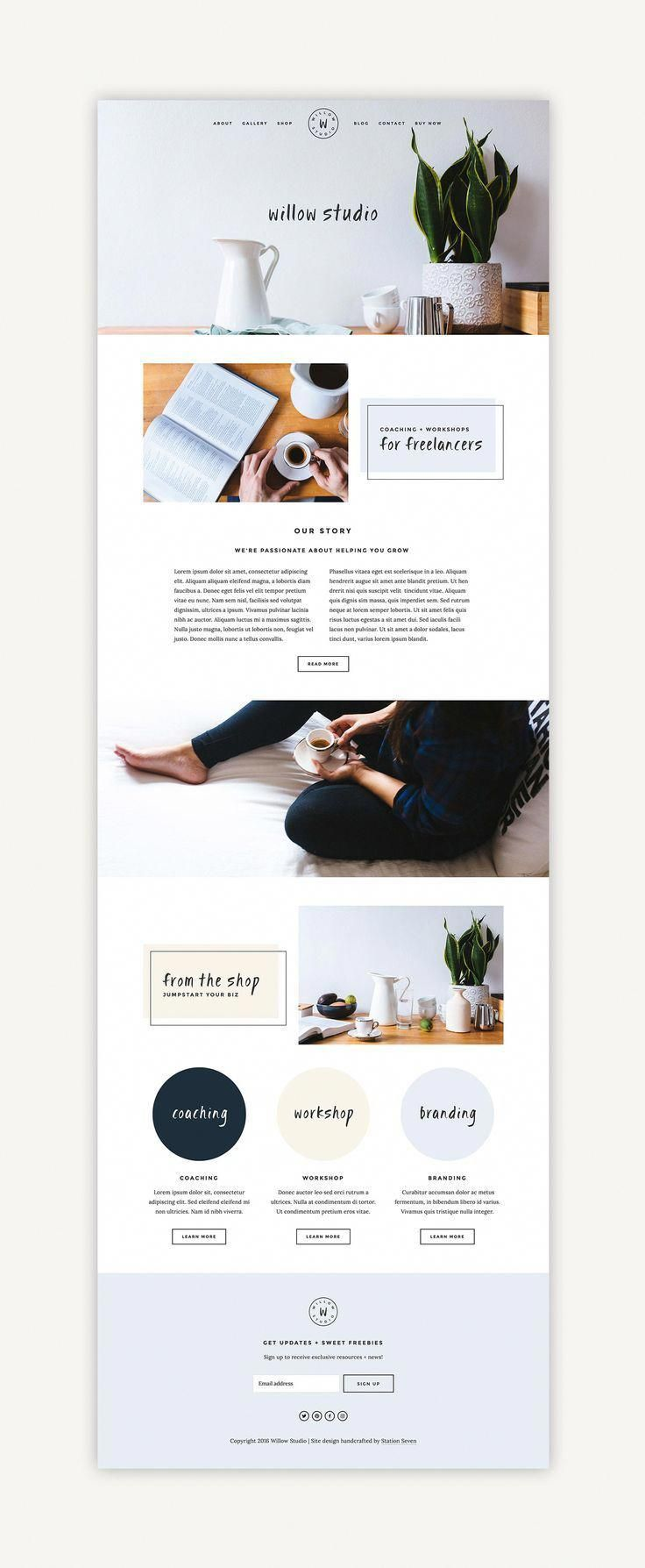 Willow Squarespace Kit — Station Seven Squarespace