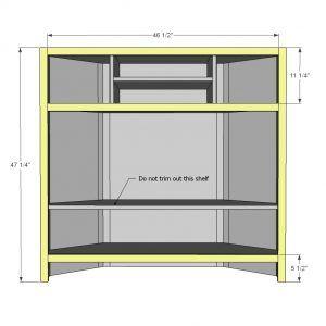 reputable site 3e5a8 ef30b Corner Media Cabinet Plans   Furniture   Corner tv cabinets ...