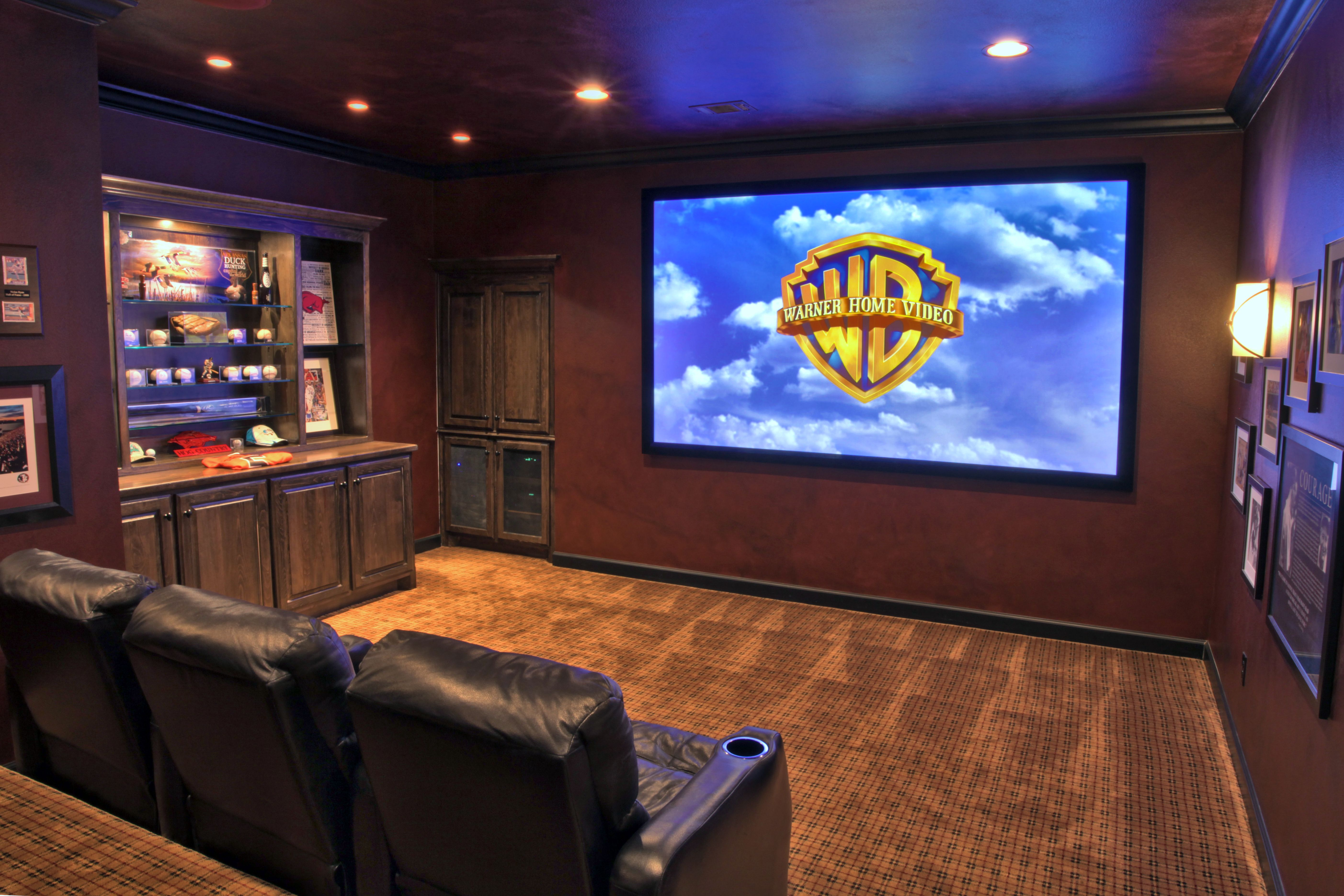 Man Cave Theater : Man cave home theater hidden speakers seats