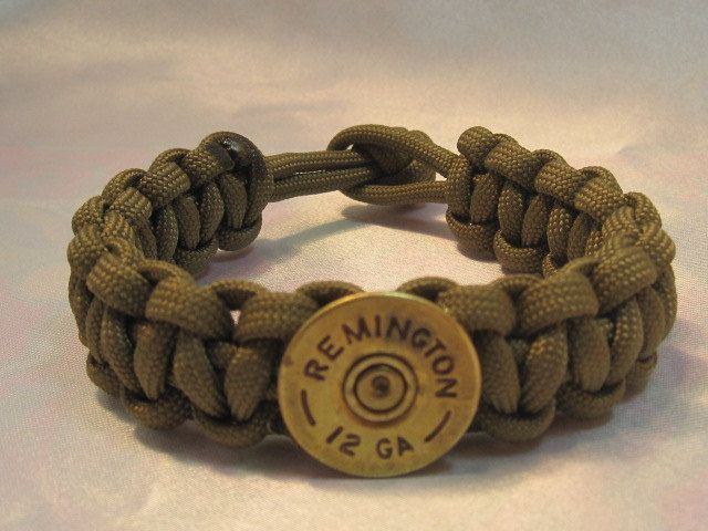 Paracord Survival Bracelet Remington Shotgun by CreativeCowgirl, $10.00