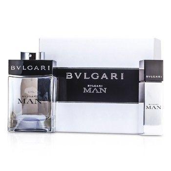 Bvlgari Man Coffret: Eau De Toilette Spray 100ml/3.4oz + Eau De Toilette Travel Spray 15ml/0.5oz 2pcs