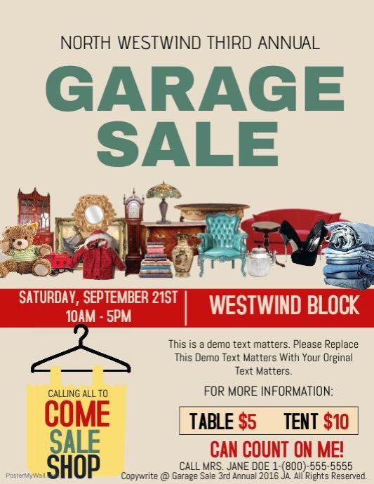Garage Sale Event Template Sale Flyer Flyer Template Flyer