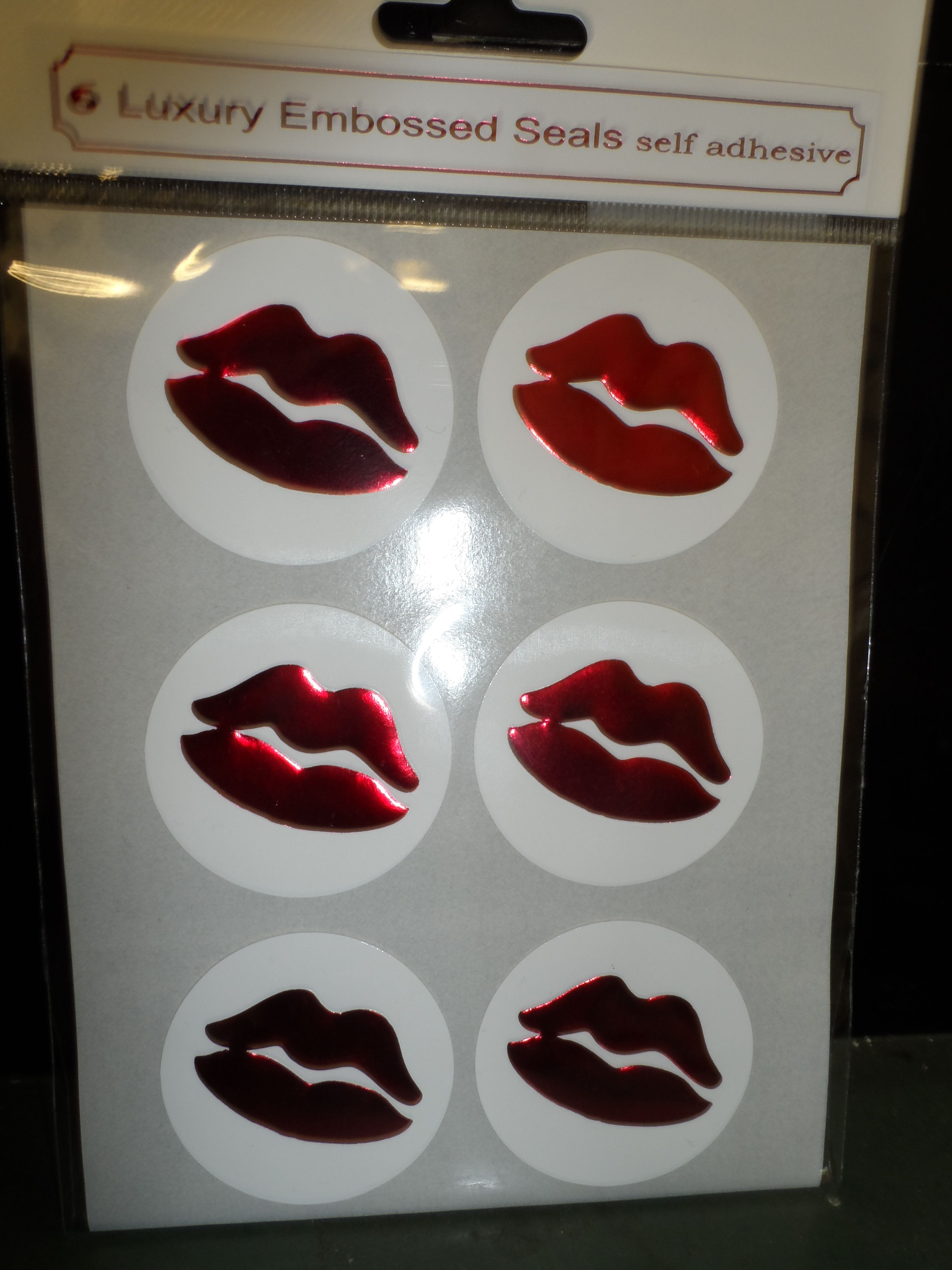 Want to seal your card or gift with a kiss?! Foiled and embossed lips