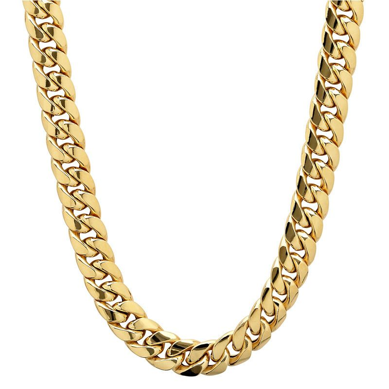 Made In Italy 10k Gold 22 Inch Hollow Chain Necklace Gold Chains For Men Mens Chain Necklace Chains For Men
