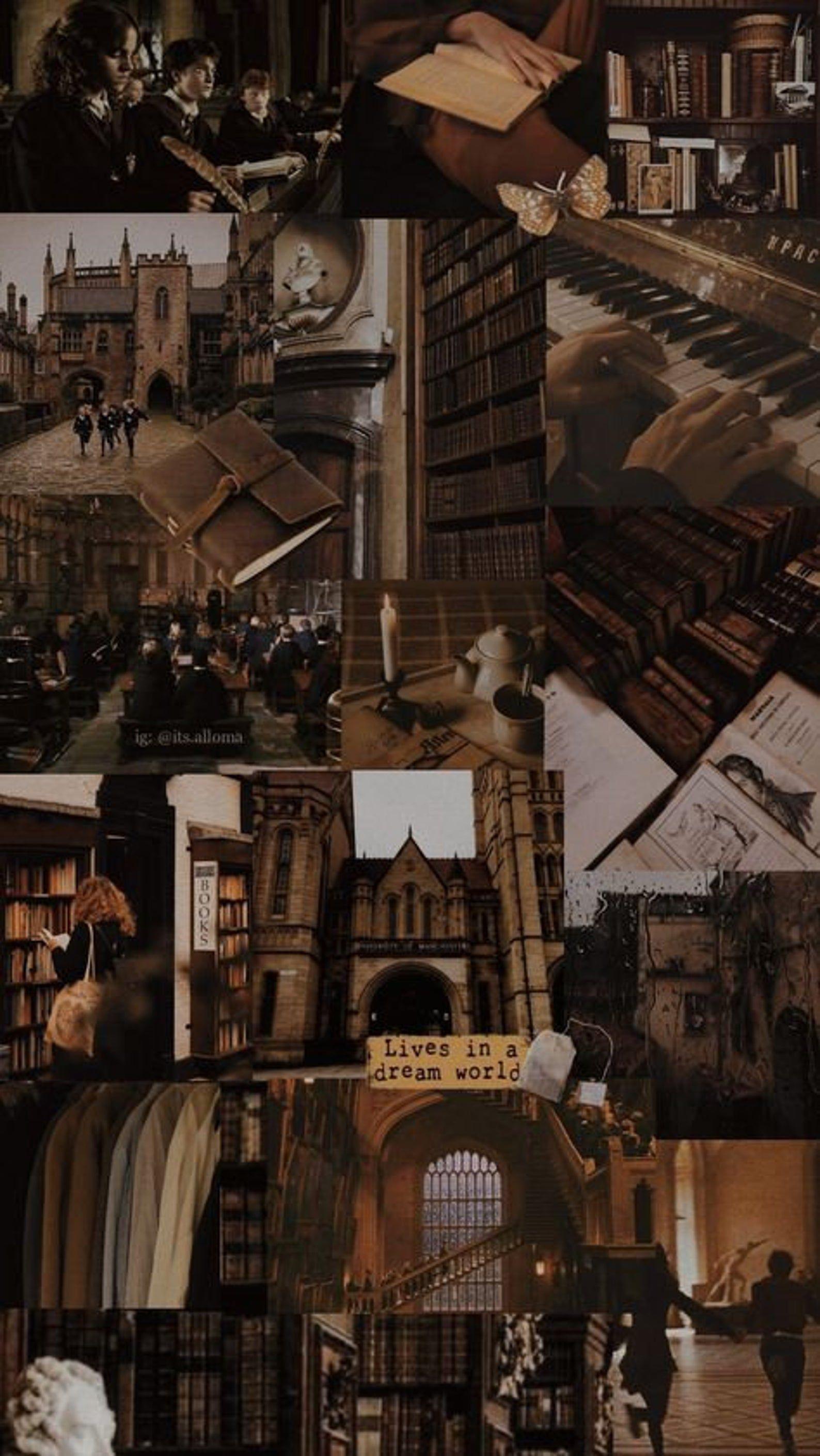 dark academia wall collage kit (Already Printed)