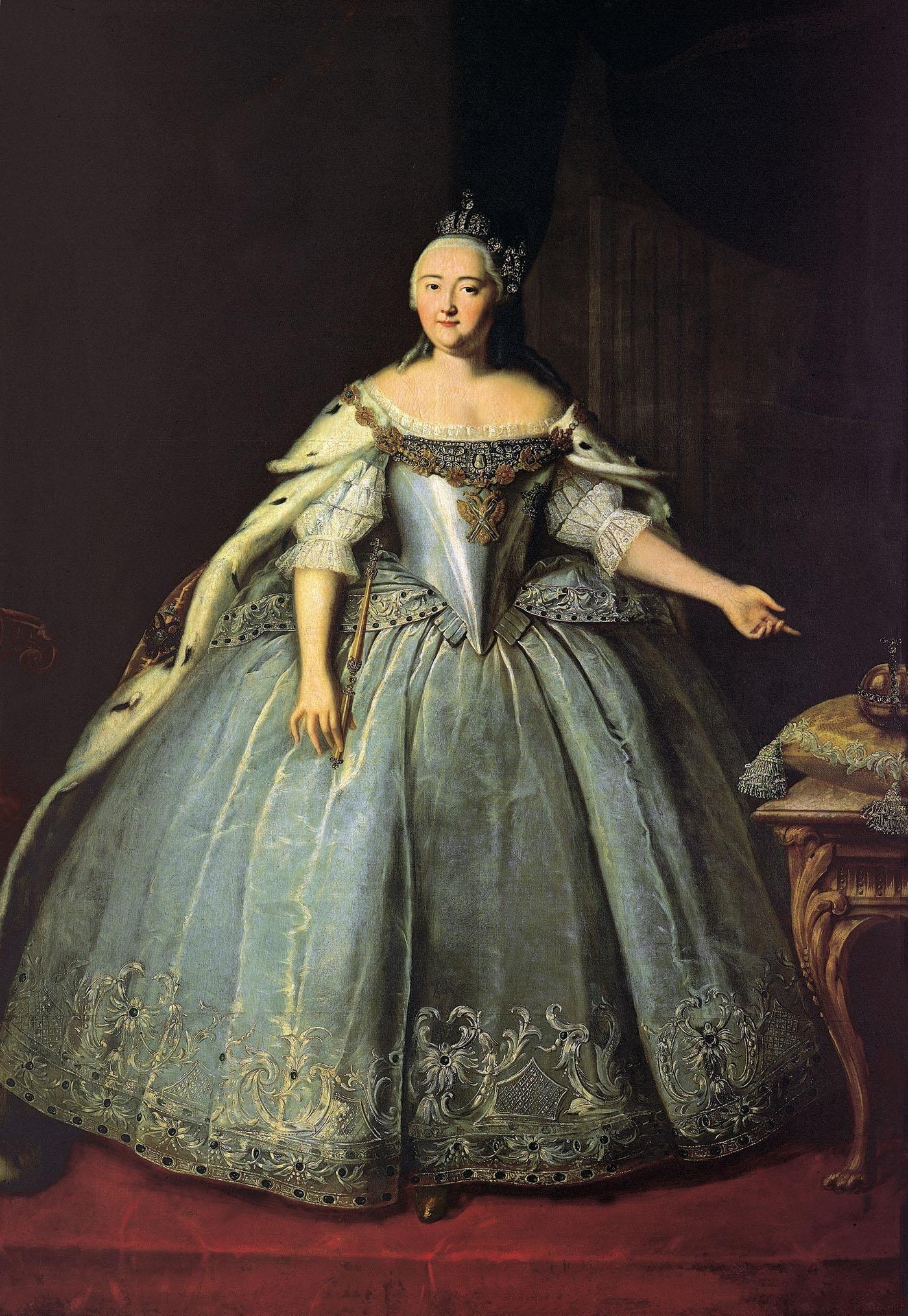 Elizabeth Romanov | 1743 Empress Elizabeth by Ivan Vishnyakov (Tretyakov  Gallery, Moskva .