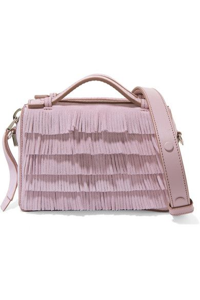 41e8c6e97f3 Tod's - Bauletto micro fringed suede shoulder bag | Products ...