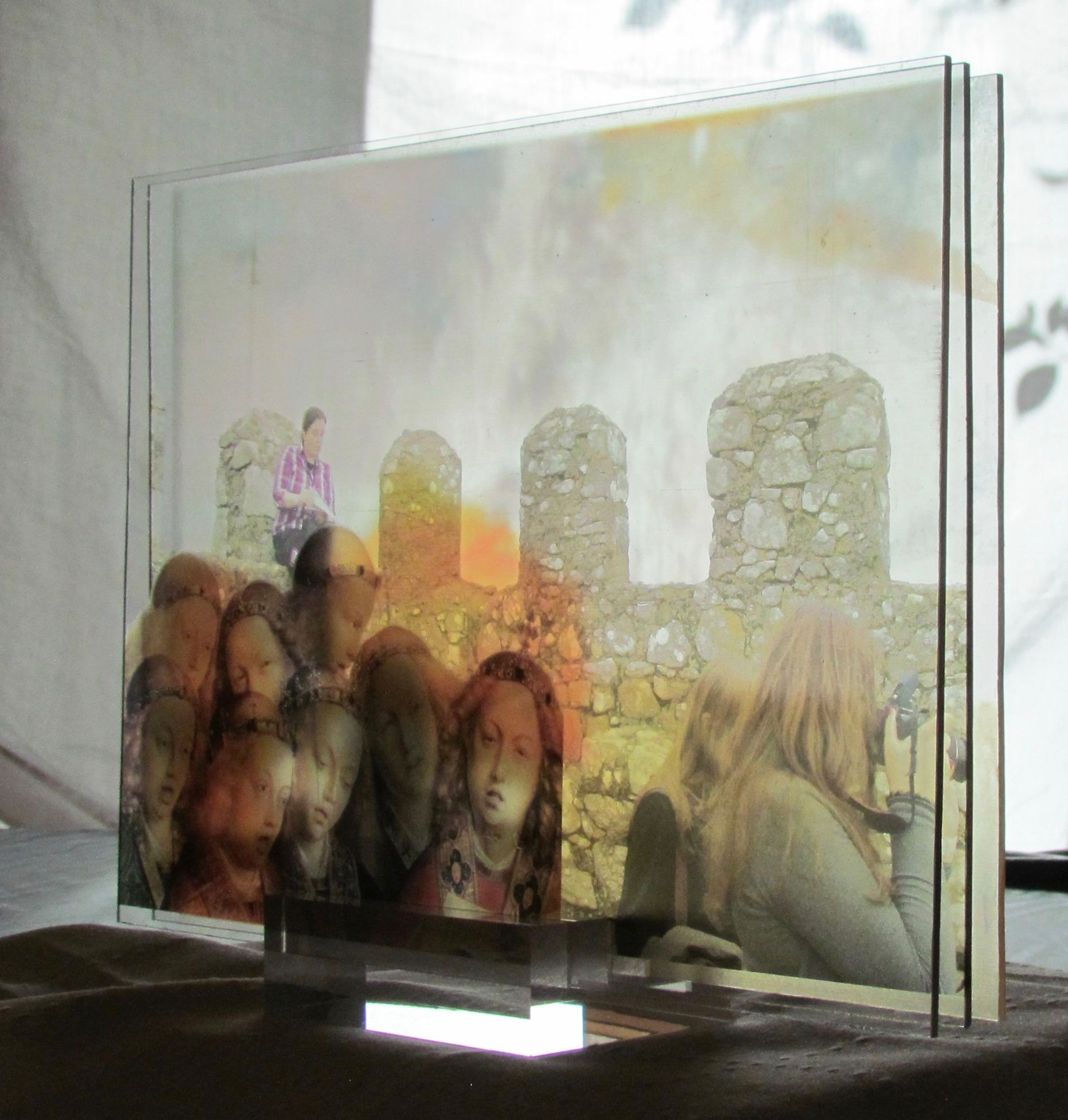 3d Uv Printing On Transparent Acrylic Sheets Spaced And Mounted On Acrylic Block Inspired By 2d Series Music Monuments Of Coll Painting Prints Art Display