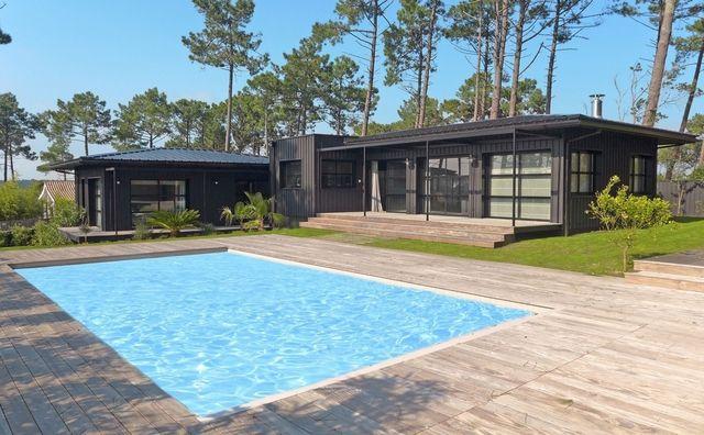 Location prestige Maison Lège-Cap-Ferret  Très belle villa moderne - location maison cap ferret avec piscine