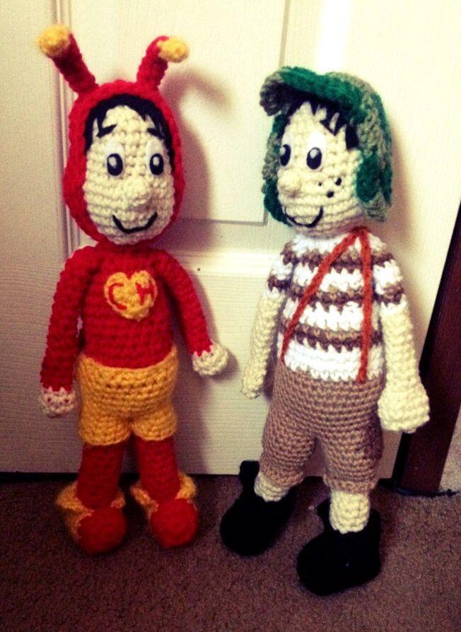 El chapulin coloraro y el chavo del 8 - crochet | amigurumis | Pinterest