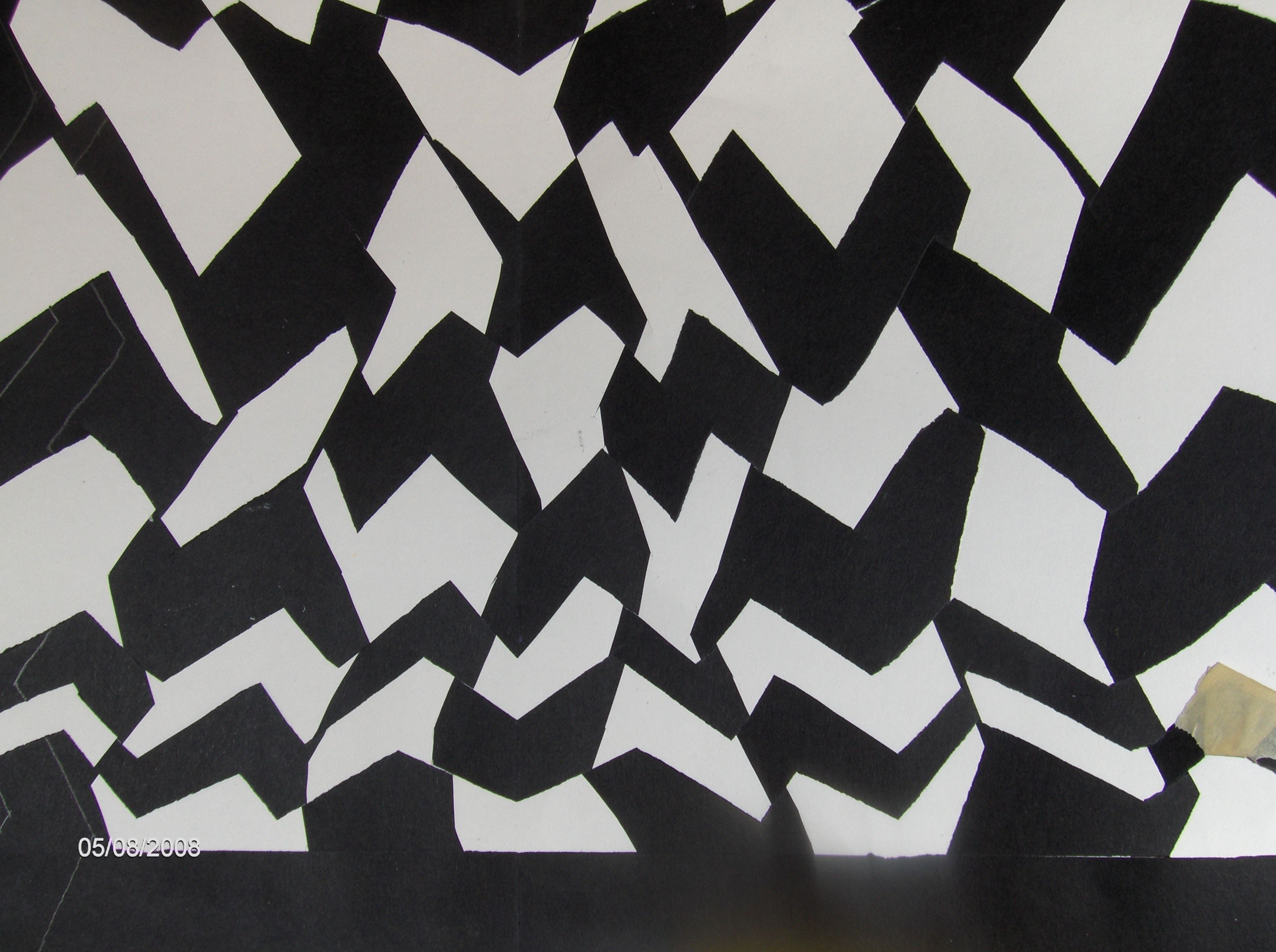 Black And White Weaving For Positive And Negative Space