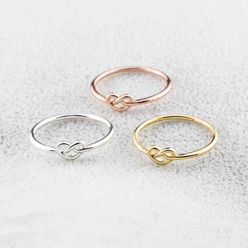 Simple yet striking, this heart knot ring is a versatile accessory you can style a variety of ways. Select from a posh silver, gold, or rose gold plated finish. This ring is also a great gift to a friend or loved one. Dimensions: Size 6.75 (17.12 mm.) Three variants - Rose gold, silver, gold plating Made of zinc alloy Knuckle love heart knot ring Suitable for any occasion ** Shipping will take approximately 4-14 business days (not including processing time) depending on the location. Orders with
