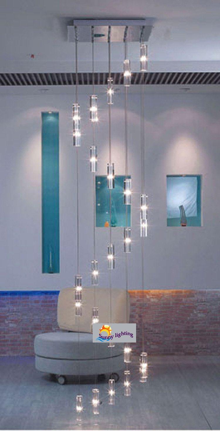 10 Best Of Modern Stairwell Pendant Lighting: Big Stairway Chandelier Long Spiral Staircase Crystal
