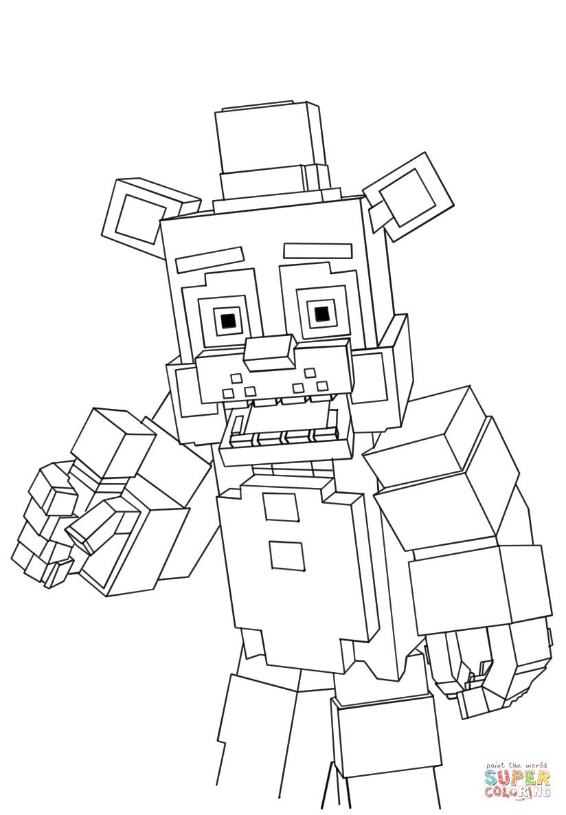 Minecraft Printable Coloring Pages Minecraft Freddy