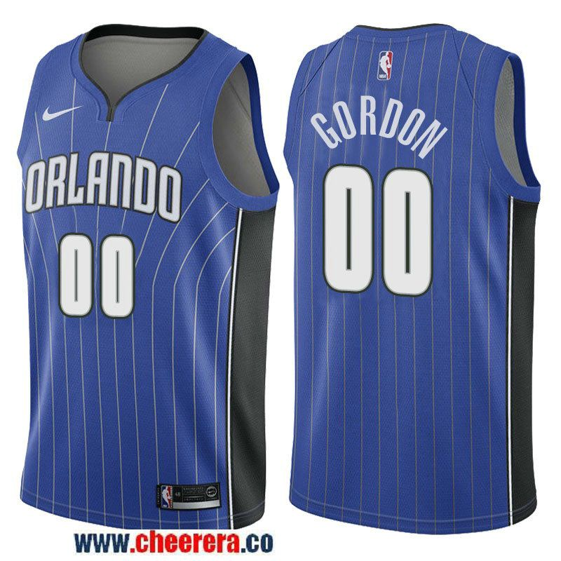Men s Nike NBA Orlando Magic  00 Aaron Gordon Jersey 2017-18 New Season  Road Blue Swingman Jersey ce95961a4