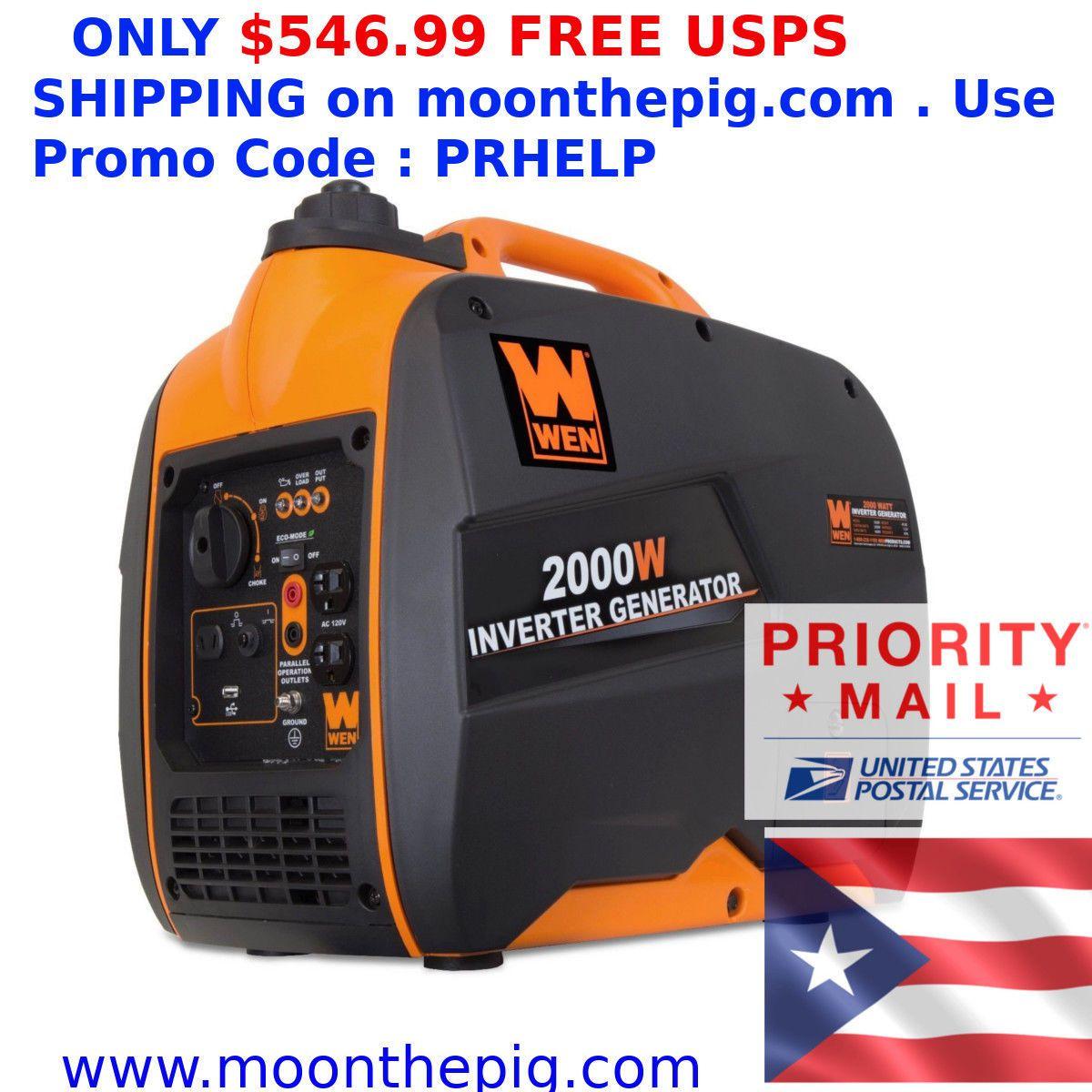 Wen 56200i 2000w Gas Powered Portable Inverter Generator Ships To Puerto Rico Inverter Generator Portable Inverter Generator Portable