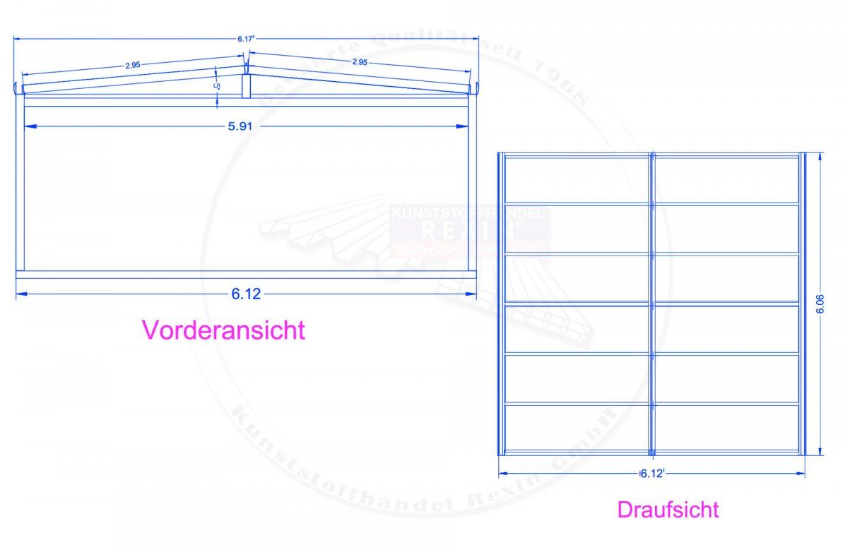 Rexoport Alu Carport Bausatz 6 13m X 6 06m In 2020 Garage Design Shopping Design
