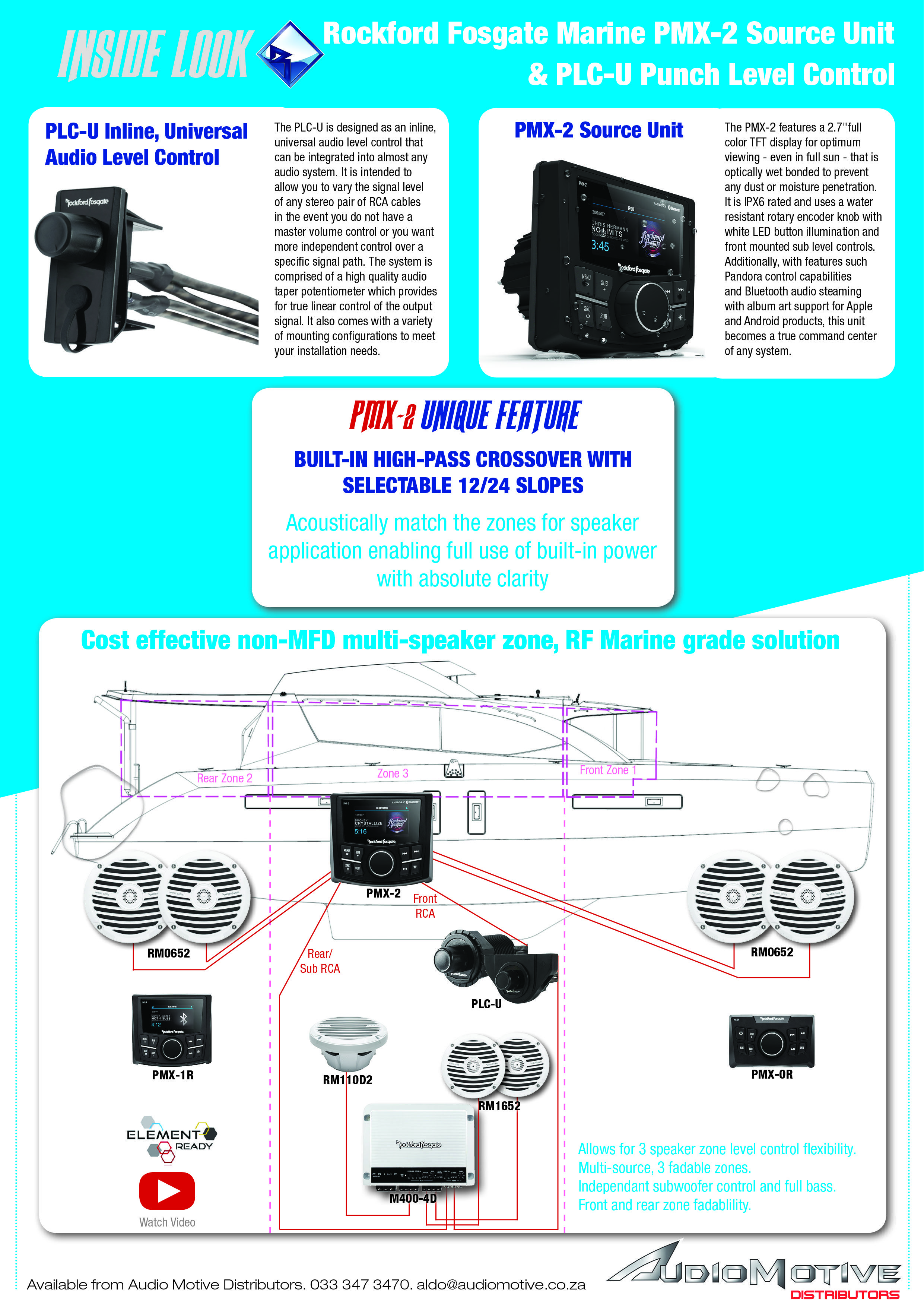 medium resolution of  marineaudio boataudio boatsound sourceunit soundforboat rockford fosgate boat sound system setup pmx 2