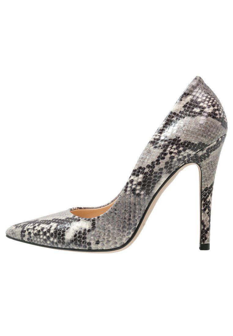 Mai Piu Senza Czolenka Wezowy Wzor Grey Fashyou Pl Heels Shoes Heeled Mules
