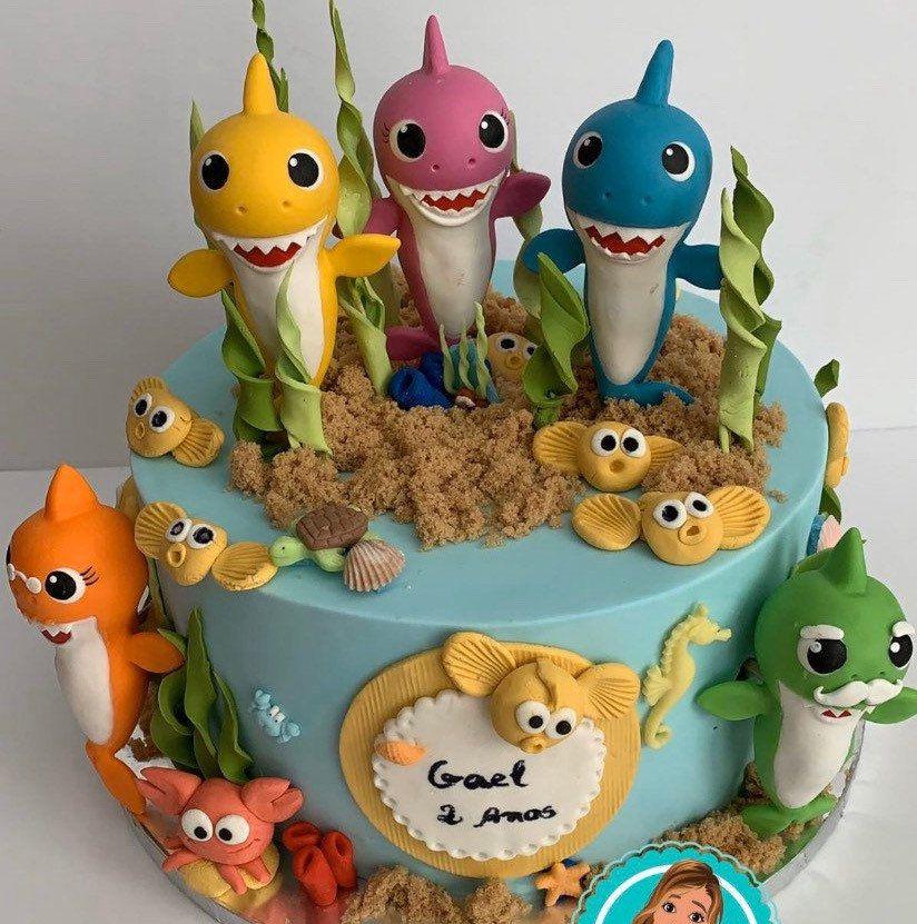 Baby shark cake topper in 2020 shark cake cake toppers