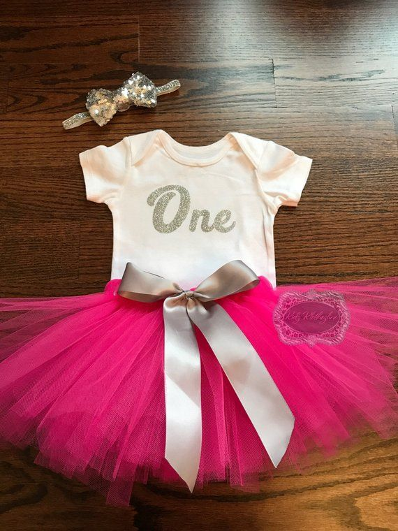 929ee6258d72 One Birthday Tutu Set Onesie Outfit Baby Girl Onesie Personalized ...
