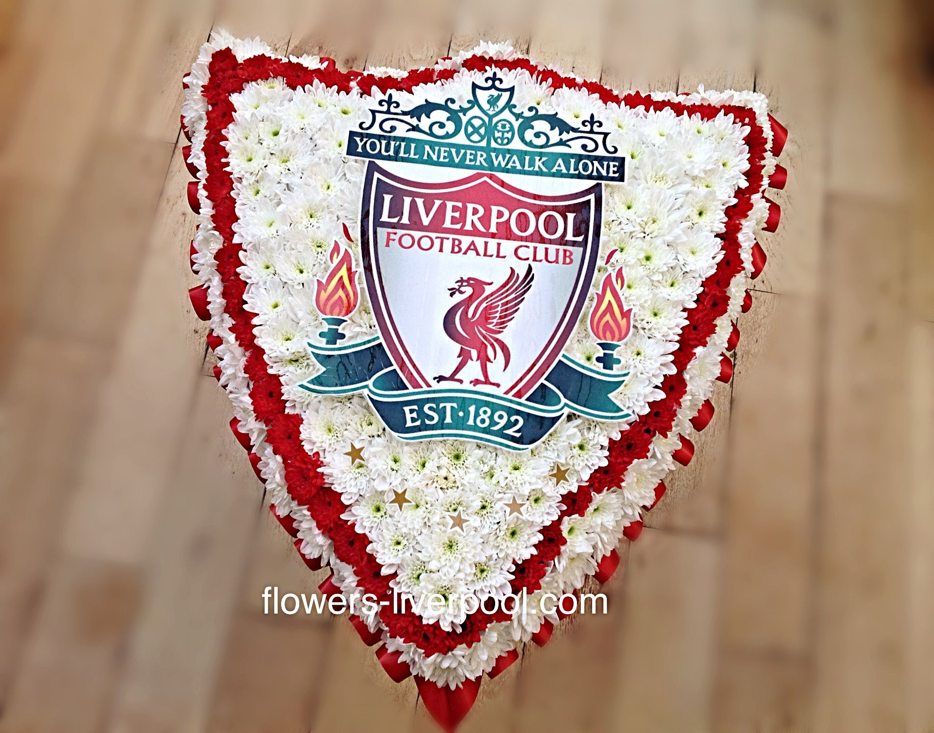 8 best sympathy tributes images on pinterest funeral flowers liverpool lfc badge crest tribute funeral flowers including 5 champions league gold stars izmirmasajfo Images