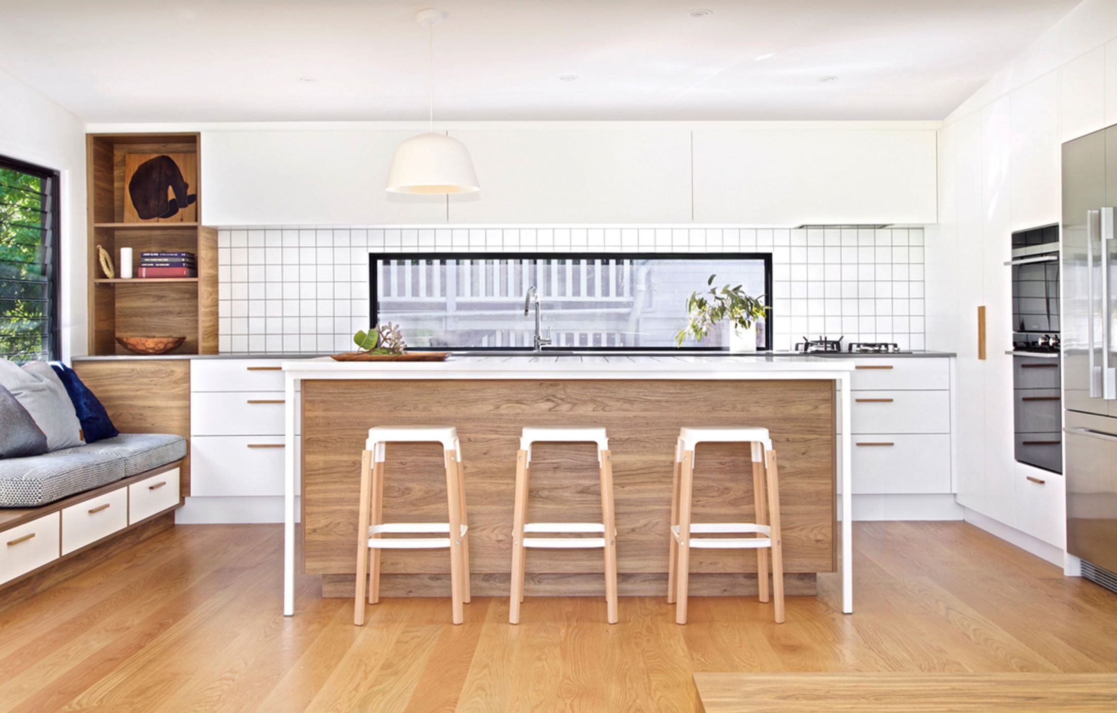 a cleverly updated queenslander home built in furniture cabinetry design on kitchen interior queenslander id=37335