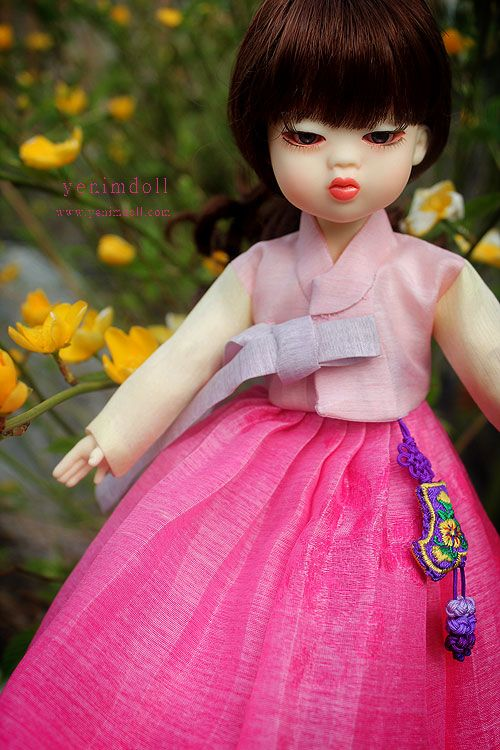 korea bjd doll   yenimdoll  doll name is danyi   yenimdoll's usd doll (26cm)  korea traditional dress hanbok    http://www.yenimdoll.com