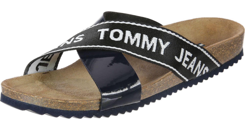 Tommy Jeans Flat Cork W Sandalen blau im WeAre Shop   WeAre SNEAKER ... bd5c2aac01