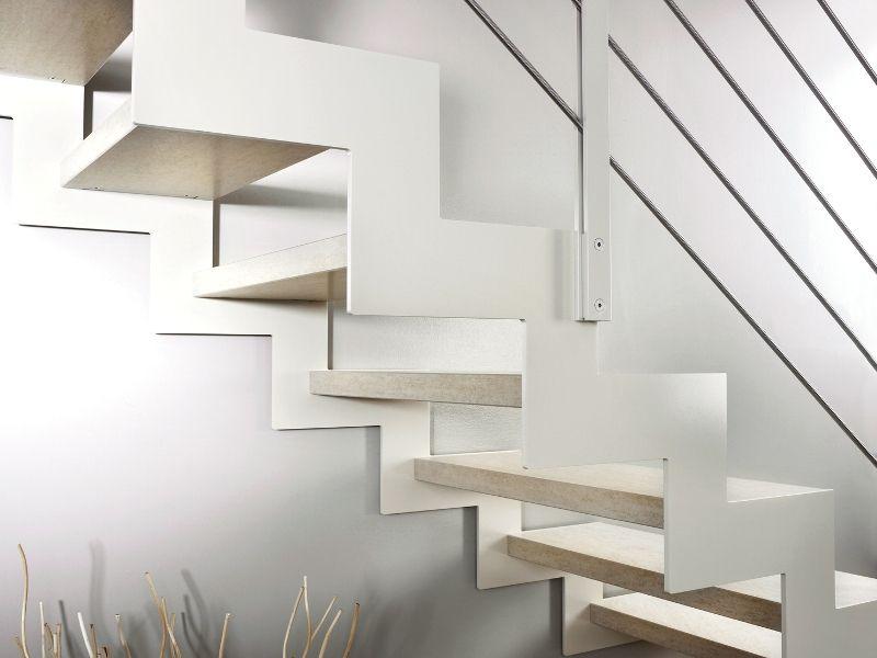 Scala a giorno con alzata aperta doppia struttura - Alzata scale interne ...
