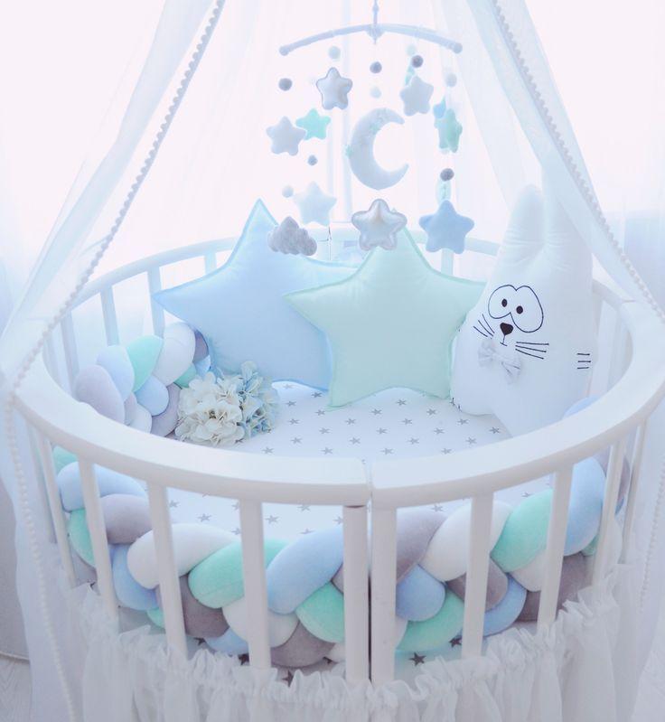 Бортики в кроватку Декоративные подушки Bab Шитье для