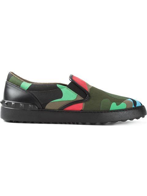 94f23dffd5d Valentino Garavani Camouflage Slip-on Sneakers - Papini - Farfetch ...