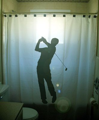 Golf Shower Curtain Golfer Bathroom Decor For Girls Or Women