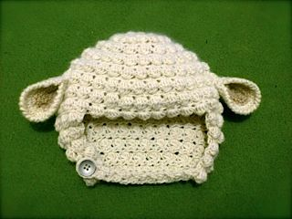 Crochet baby hat. Lamb