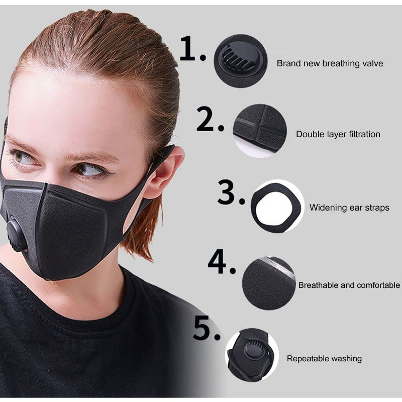 Smog Kids PM2.5 UK Pollution Childrens Half Face Mask Mouth /& Nose Anti Dust