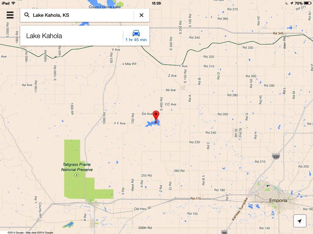 #GoogleMaps Lake Kahola GeoVenturing-LNTrek via http://www.pinterest.com/MapsDistance/hiking-distance-calculator/