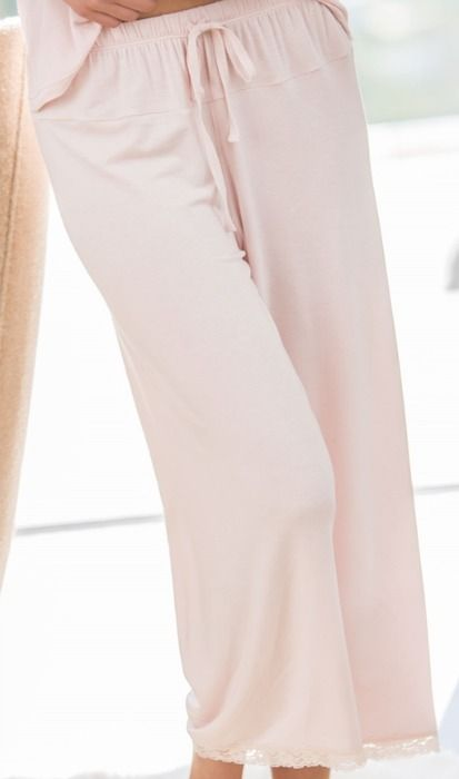 """The Luxury Milk Crop Pant by Barefoot Dreams is the perfect pant for keeping comfy!  A great crop length for taller women and perfectly long on those 5'2"""" and under, it's versatile, comfortable, and fashionable!  Available in Large in dove grey for $62 at www.poshlingerie.net or in store at Posh Lingerie in the downtown Portland, OR Pearl District!"""