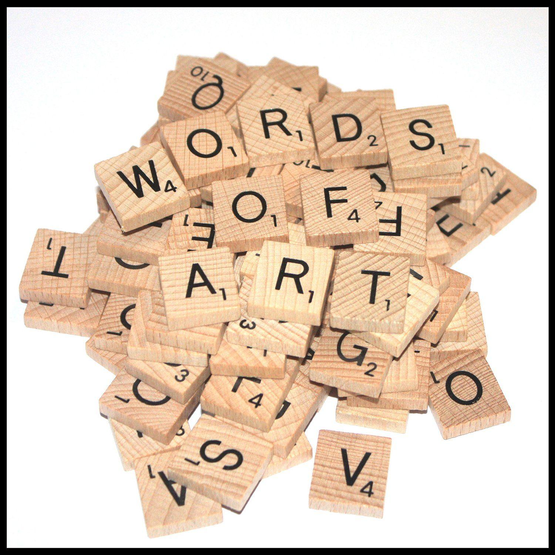 Wooden Scrabble Tiles Complete replacement set 100 tiles