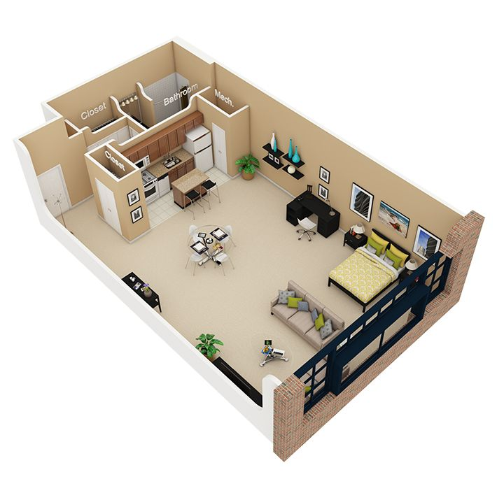 Image Result For Efficiency Apartment Floor Plan Ideas Studio Apartment Floor Plans Apartment Floor Plans Apartment Layout