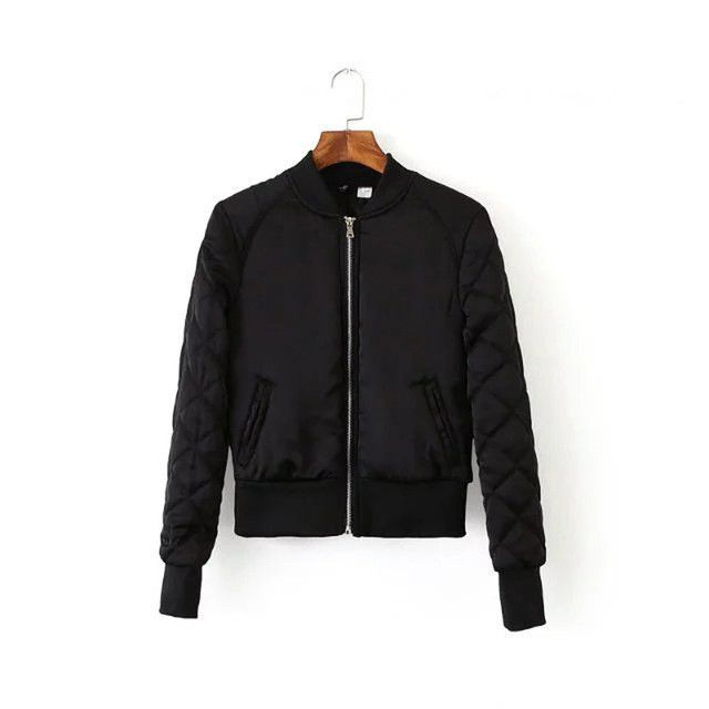 Buy Womens Bomber Jackes Quilted Jacket Ladies Short Thin Padded