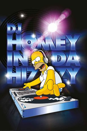 SIMPSONS - dj homey Poster - Europosters