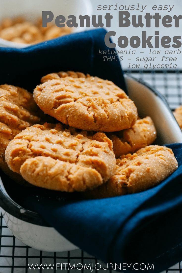 Easy Keto Peanut Butter Cookies Recipe Cookie Keto