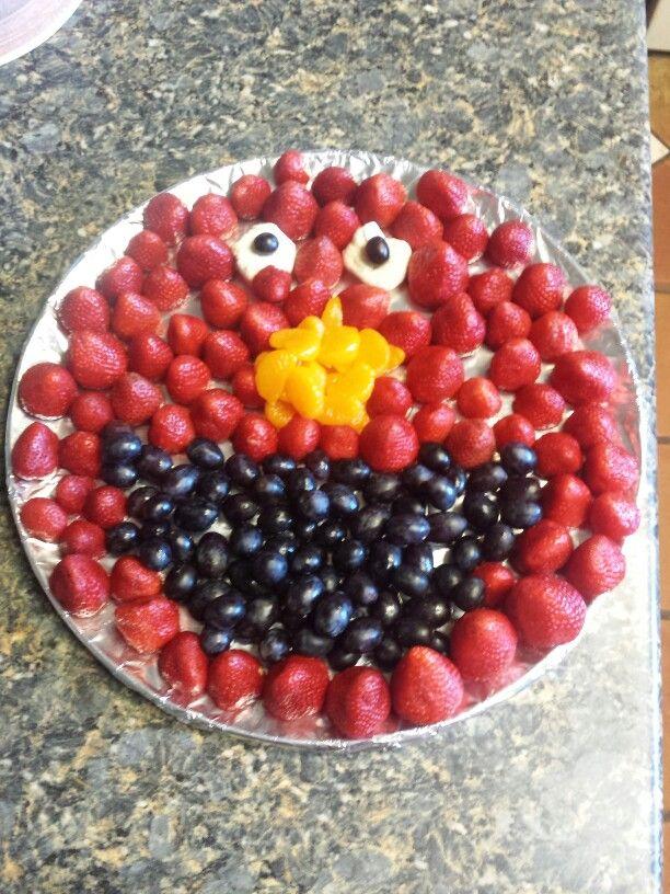 Elmo fruit tray.
