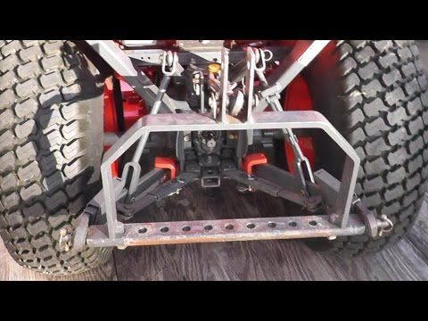 Homemade 3 Point Hitch My Garden Tractor Part 10 You