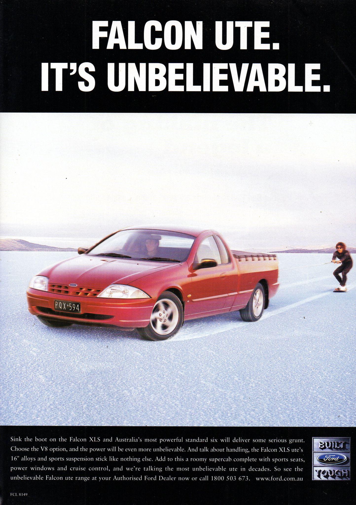 2000 Au Ford Falcon Xls 6 Or V8 Utility Ute Aussie Original Magazine Advertisement Ford Falcon Australian Cars Car Ford