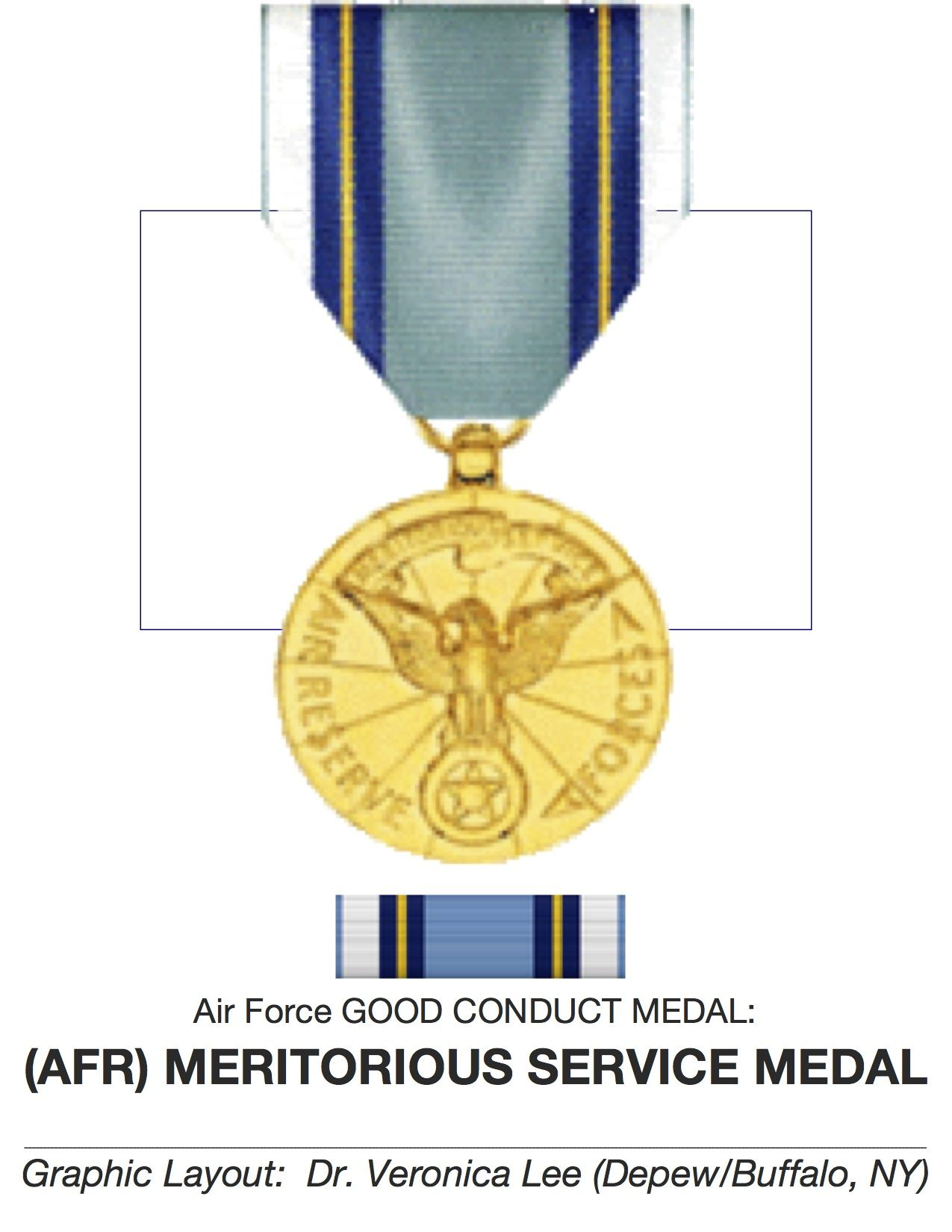U.S. AIR FORCE RESERVE Good Conduct Medal ♥ ESTABLISHED as